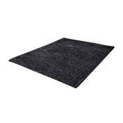 Amybria Colour Fluffy Anti-skid Rug Carpet Bedroom Black Floor Mat 15.6×60cm