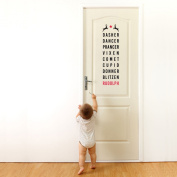 Rudolph & Friends typography wall sticker