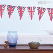The Stencil Studio Union Jack Bunting Stencil - Reusable Stencil - Size Extra Small (A5)