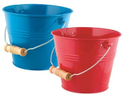 Toysmith Bright & Colourful Pail, 2 Pack, Blue/Red
