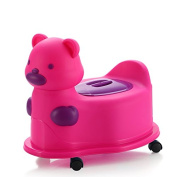 Kidoloop Dodi Bear Potty With Wheels For Children Toilet Training With Lid