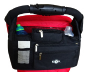 BTR Buggy Organiser Buggy Bag, Pram Organiser With Zipped Detachable Pocket And Purse