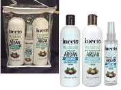 Inecto Naturals Super Shine TRIO GIFT SET Argan Shampoo, Conditioner 500ml each & Argan Oil 100ml - 90% Natural & Not Tested on Animals.Vegan friendly.