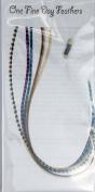 Feather Hair Extensions 5 Pack + Rings / Loop