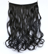 50cm One Piece Flip in Hair Extensions wire Wavy Curly