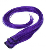 OUKIN 5 Pcs Long Straight Synthetic Thick Clip in Hair Extension Clip-on Hairpieces