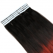 Tape in Hair Extensions 100% Human Hair 40pcs/pack 20inchs Long Hair
