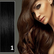 Athenia® 60cm inch Clip in Deluxe Futura Bodywave Hair Extensions - Six Piece Full Head set - ** 150 grammes of hair ** - Heat Style up to a Massive 200 Degrees - Superior Salon Quality - Natural Look & Feel - #1 Jet Black