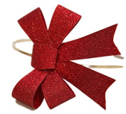 Red Sparkle Bow Hairband - Silly Old Sea Dog