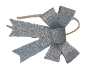 Silver Sparkle Bow Hairband - Silly Old Sea Dog