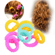nkint ® Circle Plastic Hair Rollers Spiral Ringlets Circles Curlers Curls Fast DIY Tools