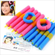 Beyondfashion 12 SOFT BENDY TWIST SAFE HAIR ROLLERS FOAM CURLERS TWISTY BENDERS