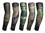 Shina 6 Pcs / Lot Temporary Fake Slip On Tattoo Arm Sleeves Kit Skull