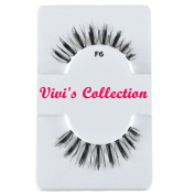 Vivi's Collection F6 Finest Eyelashes Black False Fake Eye Lashes