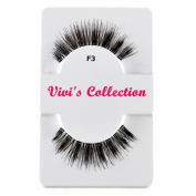 Vivi's Collection F3 Finest Eyelashes Black False Fake Eye Lashes