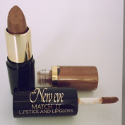 New Eve Trendy 2 in1 Match it BRONZE Lipstick and Lip Gloss 15ml Cosmetic Duo Makeup
