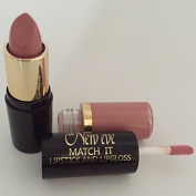 New Eve Trendy 2 in1 Match it BEIGE NUDE Lipstick and Lip Gloss 15ml Cosmetic Duo Makeup