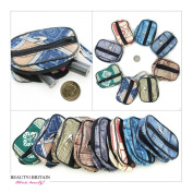 36 х TEXTILE COSMETIC BAGS PURSE WALLET DIFFERENT STYLES WHOLESALE FROM UK