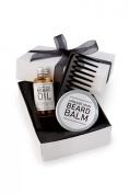 Beard Grooming Gift Set, Beard Oil, Beard Balm Beard Comb