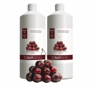 2000ml (2 x 1000ml) Suntana Cherry Medium 10% DHA Spray Tan Solution