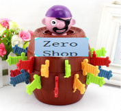 ZeroShop(TM) Super Pop Up Pirate Game, Insert Sword game Pirate Barrel Thorn pirate Bucket Toy Crisis