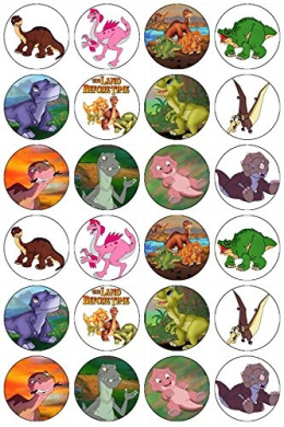 Dinosaur Edible Cake Images Nz : 24 The Land Before Time Dinosaurs Edible Wafer Paper Cup ...