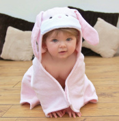 Bathing Bunnies Bunny Baby Hooded Towel Baby Pink