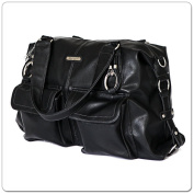 Vanchi NU Leather Victoria Shopper Black