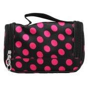 FACILLA® Pink Dots Travel Makeup Cosmetic Carry Hand Case Bag + Mirror [Misc.]