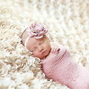 Wuiyepo 100*130cm Baby Photography Prop Rose Background Blanket