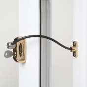 Jackloc Window and Door Restrictor Polished Brass
