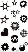 GGSELL GGSELL waterproof non tonix temporary tattoos stickers star, sun, heart, Earth, lightning, thunder, mines, etc totem design
