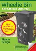 Wheelie Bin Self Adhesive Sticker Kit, Pigeons Design