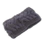 SEEKO Twist Wave Wool Knitting Knitted Women Lady Girl Hat Headgear Crochet Flora Headband Head Wrap Hair Band Hairband