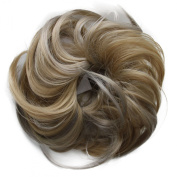 Toptheway 30g Synthetic Scrunchie Bun Up Do Hairpiece Hair Ring Hair Extensions Wavy Messy Diverse Colours