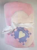 Pink Fleece Baby Blanket with Heart