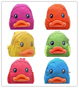 BuyHere Cute Duck Unisex Kids Backpack, Pack of 6 pcs Assorted Colours