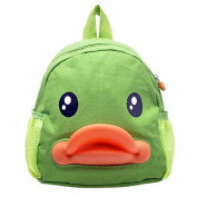 BuyHere Cute Duck Unisex Kids Backpack,Green