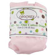 OsoCozy All in One Cloth Nappy, Pink, Small