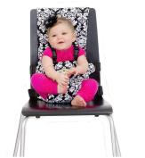 BambinOz Porta Chair Travel High Chair, Black & White Damask