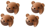 TheWin Pack of 4 Baby Furniture Corner Safety Bumper Protector Guard Cushion, Brown