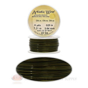 22 Gauge Olive Artistic Craft Wire 24 Feet 7.31 Metres Jewellery Beading Crafts