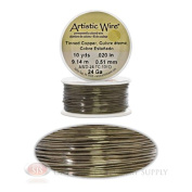 24 Gauge Tinned Artistic Craft Wire 30 Feet 9.14 Metres Jewellery Beading Crafts