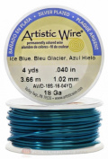 Ice Blue Artistic Craft Wire 12 Feet 3.65 Metres Jewellery Beading Crafts 18 Gauge