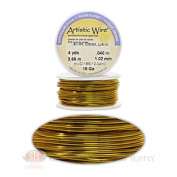 18 Gauge Yellow Artistic Craft Wire 12 Feet 3.65 Metres Jewellery Beading Crafts