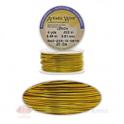 20 Gauge Yellow Artistic Craft Wire 18 Feet 5.48 Metres Jewellery Beading Crafts