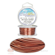 30 Yds 27.4 Metres Antique Copper 26GA Craft Wire Jewellery Beading Wrapping