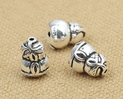 Luoyi Vintage Thai Sterling Silver Beads, Gourd, Spacer Beads, DIY Jewellery