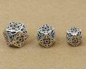 Luoyi Vintage Thai Sterling Silver Beads, Polygon, Magic, Spacer Beads, DIY (C017Z)