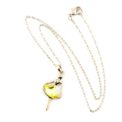 2 PCS Fashion Jewellery Necklace Long Chain Pendent Sweater Collar Bib Choker Collier Golden Angel Champagne Crystal